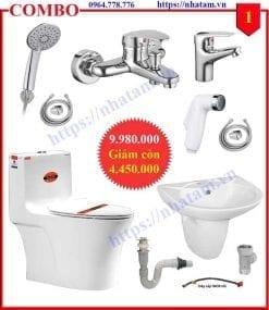 Combo 1 thiết bị phòng tắm cao cấp