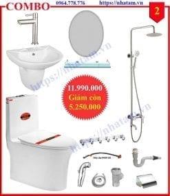 Combo 2 thiết bị phòng tắm cao cấp
