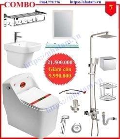 Combo 7 trọn bộ thiết bị phòng tắm cao cấp