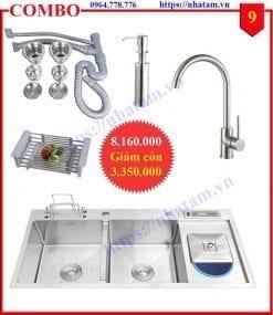 Combo 9 trọn bộ thiết bị phòng bếp cao cấp